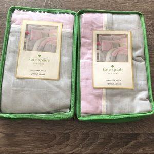 NEW KATE SPADE Spring Street Euro Sham Sweet Lilac